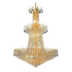 Elegant Lighting - Elegant Lighting 8031G32G Victoria 18-Light, Three-Tier Crystal Chandelier, Fini - Elegant Lighting 8031G32G Victoria 18-Light, Three-Tier Crystal Chandelier, Finished in Gold with Clear CrystalsElegant Lighting 8031G32G Features: