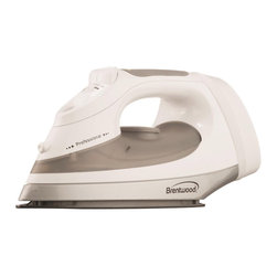 Brentwood - Brentwood MPI-57 Steam Iron - Steam out wrinkles with this efficient steam iron from Brentwood. This steam iron features an adjustable heat control,vertical steam setting,retractable cord storage function and a non-stick coating.