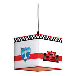 "Cilek - Racer Ceiling Lamp - The Ceiling Light is part of the ""Need for Sleep"" edition of Turbo Beds. Beautifully crafted by Cilek, this red ceiling light can be a great addition to the Turbo Beds themed bedroom. Astonishing details and vibrant color."