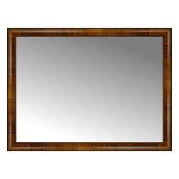 """Posters 2 Prints, LLC - 40"""" x 30"""" Belmont Light Brown Custom Framed Mirror - 40"""" x 30"""" Custom Framed Mirror made by Posters 2 Prints. Standard glass with unrivaled selection of crafted mirror frames.  Protected with category II safety backing to keep glass fragments together should the mirror be accidentally broken.  Safe arrival guaranteed.  Made in the United States of America"""