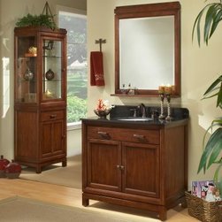Sagehill Designs Modena MD3621D 36 in. Single Bathroom Vanity - Upgrade your master bath with the Sagehill Designs Modena MD3621D 36 in. Single Bathroom Vanity. This bathroom vanity has a unique, free-standing design. It's made to last from wood with a warm modena finish and accented with bronze hardware. The black marble countertop and backsplash round out the look just right.About Sagehill DesignsWith Sagehill Designs, it's all in the details. Since 1986, Sagehill Designs has been crafting superior quality kitchen and bath furnishings. Rich in detail that matter, you'll find heirloom-quality finishes, impeccable craftsmanship, and generous storage wrapped in a smart design. You get it all with a Sagehill Design original. Sagehill Design's specialists in helping you create the perfect kitchen or bath environment.
