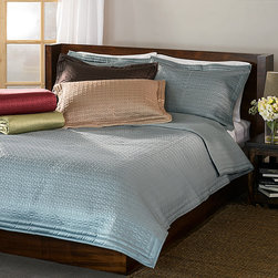None - Quilted Coin 3-piece Quilt Bedding Set - Add a hint of country charm and luxurious elegance to your bedroom with this lovely three-piece quilt bedding set. It features long-lasting100 percent polyester construction with an all-over quilted pattern in your choice of colors.