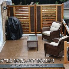 Contemporary Porch by Patio Deck-Art