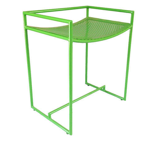 Haskell - ROOST Stool - When you need that handy extra seat to take out into the garden or for an extra guest, this lightweight, compact little stool will be standing by. Its hand-welded steel tube frame is weather-safe, durable and sturdy, despite the simplicity of the contemporary design. Fun and modern in bright green, this stool adds instant character to any scene. Made with recycled and ecofriendly content.
