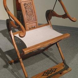 Folding Chinese Horseshoe-Back Arm Chair - Folding Chinese Horseshoe-Back Arm Chair