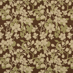 Beige Brown And Light Green Floral Indoor Outdoor Upholstery Fabric By The Yard - P602010 is great for residential and commercial applications, and can be used outdoors and indoors. This fabric will exceed at least 35,000 double rubs (15,000 is considered heavy duty), and is easy to clean and maintain. In addition, this product is stain, water, mildew, bacteria and fade resistant. For superior quality and performance, this fabric is woven and solution dyed.