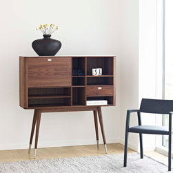 DM2750 Retro Walnut Cabinet - If ever a piece of furniture could be described as cute this is it! Gorgeous in its retro-detailing, and refined in it's design. A delight around the home.