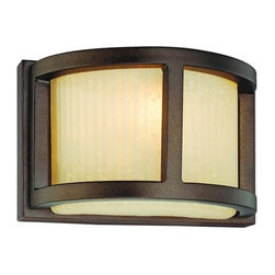 Dolan Designs - Bridgetown Heirloom Bronze One-Light Wall Sconce - -Utah Glass  -Bulb(s) Included  -9 of wire Dolan Designs - 2896-62