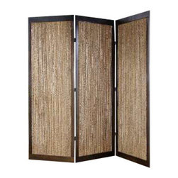 Lahaina Screen - Welcome a tropical element to your home with this elegant screen. Either accent your space with the natural or pecan side for added privacy or a layer of style. It will feel like a warm island breeze in your everyday life.