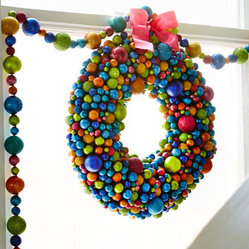 "16"" Multicolored Ball Wreath"