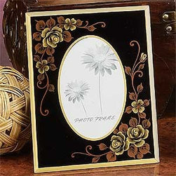 Artico - New Picture Frame Decoration Collectible Photograph Hand Painted Glass - This gorgeous New Picture Frame Decoration Collectible Photograph Hand Painted Glass has the finest details and highest quality you will find anywhere! New Picture Frame Decoration Collectible Photograph Hand Painted Glass is truly remarkable.