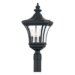Quoizel Lighting - Quoizel Lighting DE9011K Devon 3 Light Outdoor Post Light - Adorn your outdoor dcor with this classically styled post light.