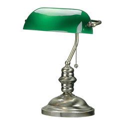 Lite Source - Lite Source LS-224AB Banker Desk Lamp - Lite Source LS-224AB Banker Desk Lamp