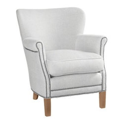 Custom Upholstered Belgian Chair, Designer Fabrics - The nailhead trim sets off the classic style and design of this beautiful chair.  I love the modified wingback design and the comfy, overstuffed cushion.  And best of all, you get to choose the upholstery fabric from a great selection of beautiful fabrics.