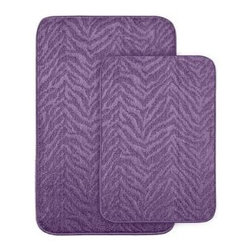 "Garland Rug - Bath Mat: Zebra Purple 20 in x 30"" Bathroom 2 -Piece Rug Set - Shop for Flooring at The Home Depot. Make your bathroom fun with this two piece zebra stripe pattern washable bath rug. Made of 100% Polypropylene with a washable backing. Proudly made in the USA."