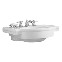 """American Standard - American Standard 0282.008.020 Retrospect Collection Pedestal Console Top, White - American Standard 0282.008.020 Retrospect Collection Pedestal Console Top, White. This pedestal sink is designed with a fine fireclay construction, a generous deck area for toiletries, a hidden front overflow, a supplied mounting kit, and 8"""" centered faucet mounting holes. This model measures 27"""" by 19-3/4"""", with a 6-1/8"""" bowl depth."""