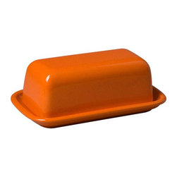 Waechtersbach Orange Peel Butter Dish - This sweet yet zesty orange butter dish is a great way to bring in a pop of color with low commitment.