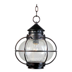 Maxim Lighting - Maxim Lighting 30506CDOI Portsmouth 1 Light Outdoor Pendants/Chandeliers in Oil - Portsmouth is a traditional, early American style collection from Maxim Lighting International in Oil Rubbed Bronze finish with Seedy glass.