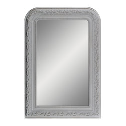 """Enchante Accessories Inc - Framed Wall Mirror 25.5"""" x 37"""" (Distressed Gray) - Polystyrene Framed Wall MirrorDecorative design with a weathered finish for a vintage lookPerfect Foyer MirrorVersatile design that can be hung in any hallway, living room, bedroom, or entrywayMeasures 25.5 in. x 37 in.Mirrors not only reflect your image, but they reflect your style.  The types of mirrors you choose to hang in your home not only provide function, but act as a great accent piece that shows your sense of style apart and reflects your taste.  Made from durable wood and accented with distressed finishes, beveled edges, and weathered details that give them a rustic, vintage look, these mirrors add beauty to any wall in any room of the house.  Perfect for use in an entry way, a hallway, a dining room, a living room, or a bedroom, these rustic mirrors have that vintage inspired French country look that adds instant charm and casual comfort to any home. For a unique look and an interesting display, hang mirrors of different sizes, shapes, and colors on the same wall.  Mirrors help to add texture and dimension and create the illusion of a larger space.  By hanging multiple mirrors in a small space, you can create interest and increase the perceived size and feel of the space around you.  Available in both rectangular shapes and rectangular shaped frames with oval mirrors in the center, these rustic wood mirrors come in a variety of color finishes that have a neutral appeal and can be easily coordinated with any type of rustic furniture or shabby chic room decor. With the look and feel of a treasured family heirloom, these mirrors are aged and weathered to give them a vintage look and evoke a sense of old fashioned spirit.  Reminiscent of something you may have once seen in a charming country cottage, these wooden mirrors let you check out your own reflection as well as reflect the beautiful room around you.  The antique look makes them the perfect addition to any casual space while"""