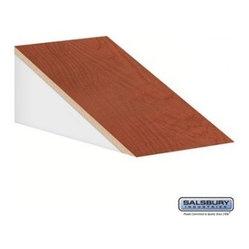 Salsbury Industries - Sloping Hood - for 21 Inch Deep Designer Wood Locker - 1 Wide - Cherry ...