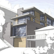 Modern Rendering by Kaplan Architects, AIA