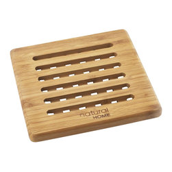 Bamboo Trivet - Protect your table from hot platters or dishes with this durable 100% bamboo trivet. Naturally water resistant.