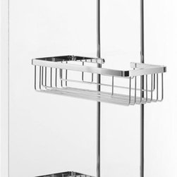 WS Bath Collections - Hanging Double Shower Basket - Modern/contemporary design. Designer high end quality bathroom shower basket. Warranty: One year. Made from solid brass base. Polished chrome finish. Made in Italy. No assembly required. 11.8 in. W x 4.7 in. D x 26.8 in. H (4 lbs.). Spec SheetUnique and fine bath accessories and complements, that provide inspirational solutions for every decor.