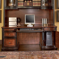 "Coaster - Gorman Credenza, Two-Tone - This grand style home office collection is sure to make a bold statement in any office. Crafted from selected veneers and hardwood solids, this desk features five drawers for organizing your office. The upper drawers are felt lined, dove tailed and corner blocked for added durability. Desk and credenza feature a power strip and drop front keyboard drawers. The hutch features curved glass door fronts. Bookcase offers three shelves and lower cabinet with doors.; Traditional Style; Finish/Color: Two-Tone; Dimensions: 73""L x 26""W x 30""H"