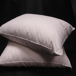 None - Eco-friendly Down Alternative Pillows (Set of 2) - Give your sleep an instant makeover when you add these comfortable down-alternative pillows to your bed. Crafted from hypoallergenic breathable cotton, these luxurious machine-washable medium-firm pillows will provide you with long-lasting use.