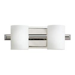 "Kichler - Kichler 5966PN Tubes 4.75"" 2 Light Bathroom Lighting Fixture - Product Features:"