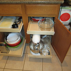 Kitchen Shelves - Kitchen slide out shelves by Slide Out Shelves LLC make any kitchen more functional by adding pull out shelves to your cabinets