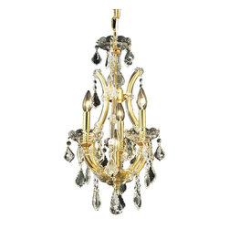Elegant Lighting - Elegant Lighting 2800D12G/RC Maria Theresa Collection Hanging Fixture - Elegant Lighting 2800D12G/RC Maria Theresa Collection Hanging Fixture