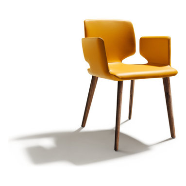 """Aye award winning dining chair - Already a winner of design prizes, the Aye dining chair has been designed by senior Team7 designer Jacob Strobel who says """"The strikingly tailored backrest gives Aye an airy appearance and invites the observer to grasp the light chair and move it."""""""