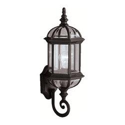 "Kichler - Kichler 9736BK Barrie Collection 1 Light 22"" Outdoor Wall Light - Kichler 9736 Barrie Outdoor Wall Light"