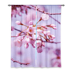 """DiaNoche Designs - Window Curtains Lined by Iris Lehnhardt - Vintage Spring Lilac Pink - DiaNoche Designs works with artists from around the world to print their stunning works to many unique home decor items.  Purchasing window curtains just got easier and better! Create a designer look to any of your living spaces with our decorative and unique """"Lined Window Curtains."""" Perfect for the living room, dining room or bedroom, these artistic curtains are an easy and inexpensive way to add color and style when decorating your home.  This is a woven poly material that filters outside light and creates a privacy barrier.  Each package includes two easy-to-hang, 3 inch diameter pole-pocket curtain panels.  The width listed is the total measurement of the two panels.  Curtain rod sold separately. Easy care, machine wash cold, tumble dry low, iron low if needed.  Printed in the USA."""