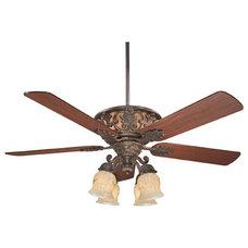 Savoy House Monarch 4 Light Ceiling Fan in Walnut Patina 52-810-5WA-40 | Savoy L