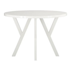 "Ypsilon 42"" Round Dining Table - I just painted my kitchen table this same gorgeous color! It's a perfect match for bringing in warmth or keeping in cool this season."