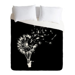 DENY Designs - DENY Designs Budi Kwan Going Where The Wind Blows Duvet Cover - Lightweight - Turn your basic, boring down comforter into the super stylish focal point of your bedroom. Our Lightweight Duvet is made from an ultra soft, lightweight woven polyester, ivory-colored top with a 100% polyester, ivory-colored bottom. They include a hidden zipper with interior corner ties to secure your comforter. It is comfy, fade-resistant, machine washable and custom printed for each and every customer. If you're looking for a heavier duvet option, be sure to check out our Luxe Duvets!