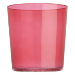 Marta Pink Double Old-Fashioned Glass - Host a cheerful fete with these fabulous hot pink glasses.
