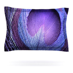 """Kess InHouse - Monika Strigel """"Purple Peacock"""" Lavender Pillow Sham (Cotton, 30"""" x 20"""") - Pairing your already chic duvet cover with playful pillow shams is the perfect way to tie your bedroom together. There are endless possibilities to feed your artistic palette with these imaginative pillow shams. It will looks so elegant you won't want ruin the masterpiece you have created when you go to bed. Not only are these pillow shams nice to look at they are also made from a high quality cotton blend. They are so soft that they will elevate your sleep up to level that is beyond Cloud 9. We always print our goods with the highest quality printing process in order to maintain the integrity of the art that you are adeptly displaying. This means that you won't have to worry about your art fading or your sham loosing it's freshness."""