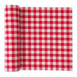 Cotton Printed Placemat, Red Vichy