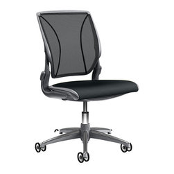 Humanscale - Diffrient World Chair - Sometimes it's good to break the mold. Sometimes it's better to conform to it. This chair gives you the best of both. Its tri-panel mesh back conforms to yours in a nearly tailor-made experience, while the mesh seat provides pressure-free support for those long hours on the job. Yet, with its sleek and lighter-than-average design, it sets itself apart from other desk chairs.