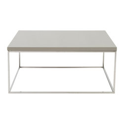 Euro Style - Euro Style Teresa Square Coffee Table 09800TPE - There's plain and there's perfect. This collection of 4 Teresa table designs are not only perfectly designed for strength and timeless style, they work beautifully together. Go for the group.