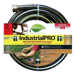 """Swan Products - Colorite Element Elih58075 Industrial/Home Lead Free. Kink Free - Colorite Element ELIH58100 Industrial/Home 5/8-""""-by-75' Garden Hose - Lead free, kink free.  Phthalate safe.  Drinking water safe with high performance, lead free brass couplings and a high 500psi burst strength. 5/8-"""" diameter x 75-foot length - Brown/Green"""