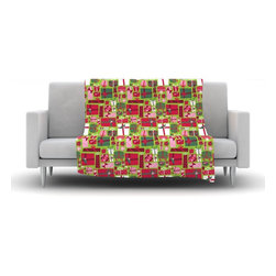 """Kess InHouse - Allison Beilke """"Prezzies"""" Holiday Fleece Blanket (30"""" x 40"""") - Now you can be warm AND cool, which isn't possible with a snuggie. This completely custom and one-of-a-kind Kess InHouse Fleece Throw Blanket is the perfect accent to your couch! This fleece will add so much flare draped on your sofa or draped on you. Also this fleece actually loves being washed, as it's machine washable with no image fading."""