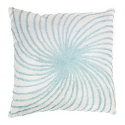 Rizzy Home - Aqua and Off White Decorative Accent Pillows (Set of 2) - T02431 - Set of 2 Pillows.