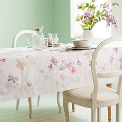 Butterfly Tablecloth - Butterflies make for such a pretty tablescape.