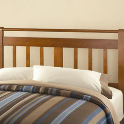"Dorel Asia - Queen/Full Slat Headboard - Constructed from solid wood, the full/queen headboard features a simple, elegant design and a rich Honey Walnut finish. Features: -Honey Walnut finish. -Mounting brackets included. -Can accommodate most full or queen bed frame. -Bed frame and mattress sold separately. -1 Year warranty. Dimensions: -49.5"" H x 59.75"" W x 1.75"" D, 21.56 lbs."