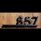 Address Plaques - CUSTOM Minimalist Underline House Number Sign in Aluminum