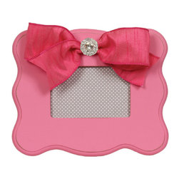 Smile For The Birdie - Candy Pink Scalloped Picture Frame - Candy Pink Scalloped Picture Frame